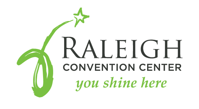 "Raleigh Convention Center logo with tagline ""You Shine Here"""