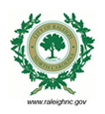 City of Raleigh seal with website: www.raleighnc.gov